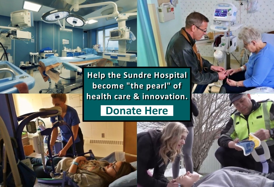 Click here to help raise funds for a new hospital in Sundre Alberta, and to provide more dollars for local health care in the Sundre, Water Valley, Cremona region of Alberta.